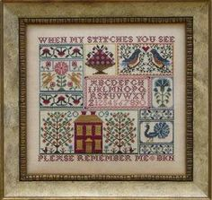 A Sampling in the Square by Blue Ribbon Designs - Cross Stitch Kits & Patterns