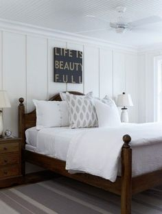 bedroom | cottage farmhouse | black + white | Lillyvale
