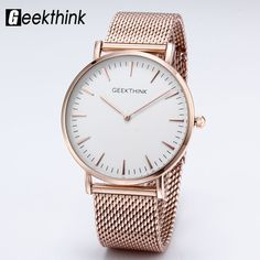 Top Brand Luxury Quartz watch Casual men Dress Rose Gold Japan quartz-watch stainless steel Mesh strap ultra thin clock male New