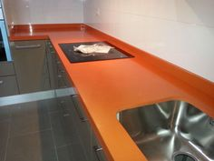 Encimera Silestone Naranja Color Serie Life Naranja