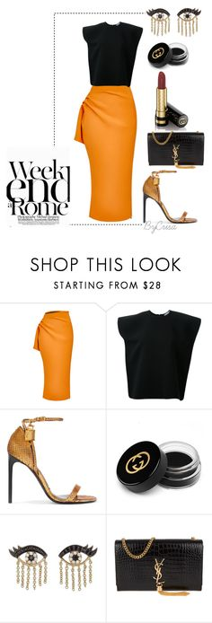 """Untitled #784"" by crisa-gloria-eduardo ❤ liked on Polyvore featuring Maticevski, Tom Ford, LARA, Gucci, Sydney Evan and Yves Saint Laurent"