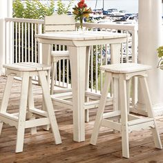 This is the perfect table for your outdoor entertaining...and works with our Portland Outdoor Bar Stools.