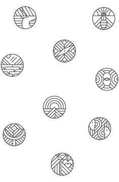 Idem que le logo précédent Pastille signature de nos photos Rappel du végétal Sobriété: