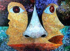 """Albin Talik """"Orgone"""" 100X140 cm paper and glue"""