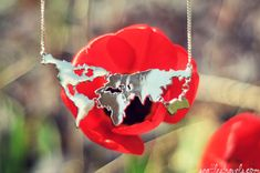 World Map Necklace Silver // Travel Jewellery