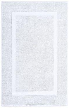 Pinzon Luxury Banded Bath Mat – White Bath Design, Bath Rugs, Kitchen And Bath, Bath Mat, Textiles, Band, Luxury, Cotton, Square Meter