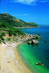 Wonderful sea colours of Costa d'Argento, Maremma, Tuscany, Italy