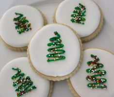 Christmas Sugar Cookies / Simple Christmas Cookies / Christmas Cut Out Cookies / Tree Cut Out Cookies DOZEN) - The most delicious cut out cookies you will ever eat! These cookies are the cutest cookies for a Ch - Easy Sugar Cookies, Christmas Sugar Cookies, Christmas Sweets, Christmas Cooking, Holiday Desserts, Holiday Baking, Holiday Treats, Holiday Recipes, Christmas Christmas