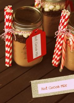 2013 Yummy Christmas Hot Chocolate Jar Gifts, Handmade Christmas Food Gift Ideas, Glass Jar Of Hot Chocolate For Christmas