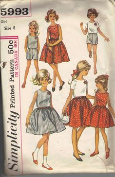 Vintage 1960's Girl's Dress Sewing Pattern by AtomicRegeneration