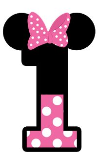 Minnie Mouse: Free Printable Toppers or Labels in pink. Minnie Mouse Template, Mickey E Minnie Mouse, Minnie Png, Minnie Mouse 1st Birthday, Mickey Party, Happy Birthday, Mickey Mouse Drawings, Mouse Illustration, Party Set
