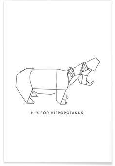 H als Premium Poster door Julia Marquardt | JUNIQE