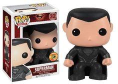 Funko Pop Man of Steel Superman (Black Suit SDCC 2013 Exclusive) http://popvinyl.net #funko #funkopop #popvinyl