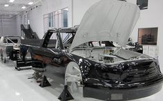 One of our NASCAR Camping World Truck Series Toyota Tundra's being built.
