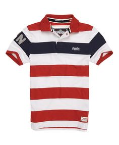 Superdry Hoopstripe Hit Polo Navy