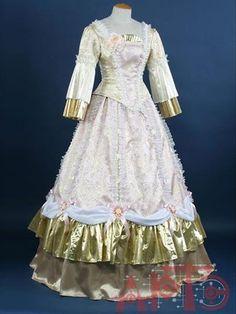 Историческое женское платье 18 века