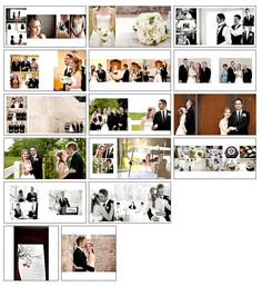 Wedding Album Template Classic Design 1 by PhotographicElements Wedding Album Cover, Wedding Album Layout, Wedding Album Design, Wedding Photo Albums, Wedding Book, Wedding Photos, Bridal Photography, Book Photography, Foto Wedding
