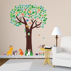 Decowall Big Tree Wall Decals Removable PVC Home Stickers Kids Art  Nursery 1312 #DecowallQuoteWallDecor #ModernandfairytaleEducational