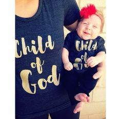 Mommy & Me matching Child of God Shirts