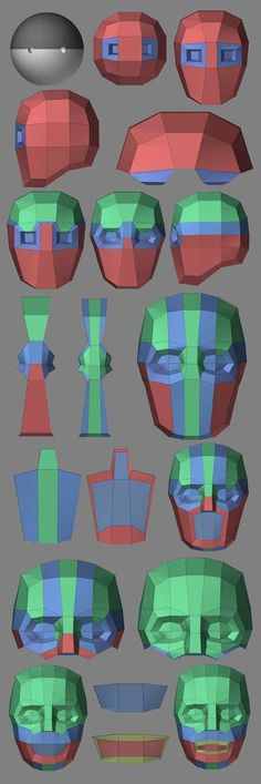 Handlebar Modeling Workflow in ZBrushCentral (www. Zbrush Tutorial, 3d Tutorial, 3d Model Character, Character Modeling, Character Concept, Wireframe, 3d Cinema, Polygon Modeling, Digital Sculpting