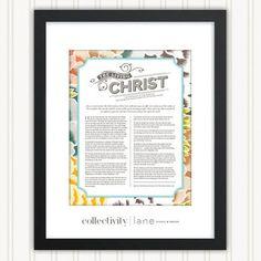 DIGITAL FILE / Living Christ Art Print / LDS by CollectivityLane, $12.00: