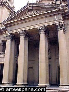 Neoclasicismo. Fachada de la catedral de Pamplona, de Ventura Rodríguez