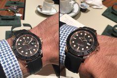 Rolex Oyster Yacht-Master Everose Oysterflex Baselworld 2015 esfera
