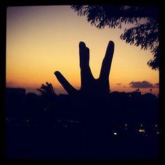 Throw your dubs up in Hawaii's Sunset. @Washington Huskies