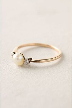 Dainty Pearl Ring-This is such a beautiful ring that I don't even care that it's not a diamond.