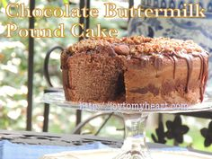 Chocolate Buttermilk Pound Cake is our favorite, especially if you're a chocolate lover. I made icing last night but it is perfect without. Chocolate Buttermilk Pound Cake Recipe, How To Make Icing, Roasted Pecans, Pound Cake Recipes, Cake Icing, Icing Recipe, Yummy Cakes, Joy, Baking