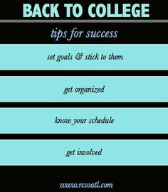 Tips to ace your time in #college!