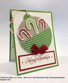 Mary Fish - Stampin' Pretty blog Christmas and Candy Canes