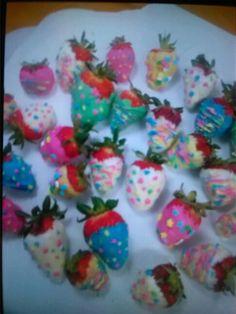 Easter choc. Covered strawberries......yummmm!!