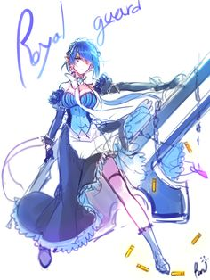 Ciel :v pls<-- Genderbent Royal Guard~ I have no idea how she's going to run in that dress. Character Concept, Character Art, Character Design, Elsword Anime, Royal Guard, Fictional World, Fantasy World, Anime Style, Female Characters