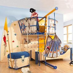 Get inspired with kids bedroom, kids' playroom ideas and photos for your home refresh or remodel. Wayfair offers thousands of design ideas for every room in every style. Pirate Bedroom, Kids Bedroom, Kids Rooms, Kids Pirate Room, Pirate Room Decor, Pirate Boy, Nautical Bedroom, Baby Bedroom, Nautical Theme