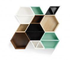 Set de 5 Repisas Panal - Multicolor - Libreros - Almacenar - Muebles