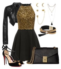"""""""Night out"""" by huangjxy ❤ liked on Polyvore featuring Leka, Christian Louboutin, Accessorize, Torrid, Simons and Calvin Klein"""