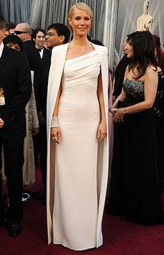 Gwyneth Paltrow's one-shouldered Tom Ford dress and cape