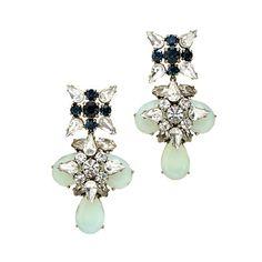 Blue grotto crystal earrings