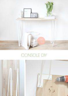DIY HOME : home made console for your house. DIY Décoration : Console faite maison