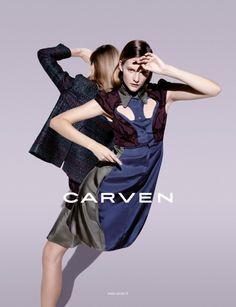 CarvenSpringCampaign3 Sara Blomqvist Shows Two Sides for Carvens Spring 2013 Campaign by Viviane Sassen
