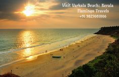 Varkala Beach happens to be quiet unique being one of its kinds with a cliff adjacent to the Arabian Sea. Apart from being one of the best beaches in Southern Kerala, it is also an important destination for Hindu pilgrims. Renowned temple of Shree Janardhana Swami and the Sivagiri Mutt are both located near the beach. Planning a holiday? Flamingo Travels has an amazing collection of Kerala Tour Packages from Mumbai and Ahmedabad. For more info, call +91 9825081806 or visit goo.gl/cm5G2P