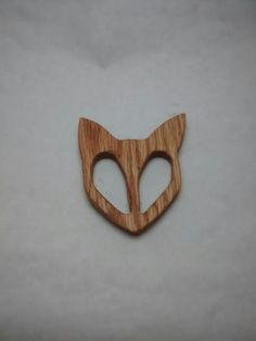 fox teether, wooden teether so cute for a woodland theme!