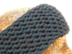 """Jovial Knits: Loom Knit Basic Headband...40 yards of bulky yarn (Sample uses Bernat Softee Chunky in """"Teal"""") a 36 peg round loom with a gauge of 3/4"""" your favorite loom hook a tapestry or yarn needle to do the super stretchy bind off a crochet hook to weave in ends"""