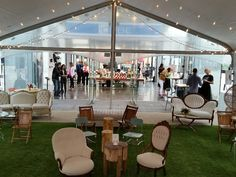 Tspan tent interior with astro turf from House of Rental, Skokie, IL