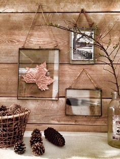 I used copper accents and sprayed an oak leaf using Plastikote metallic spray paint in Copper, which literally takes a minute to dry.