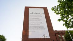 Giant poem scrubs the air clean of pollutants. The World's first catalytic poster #OOH via @Sarah Kozich