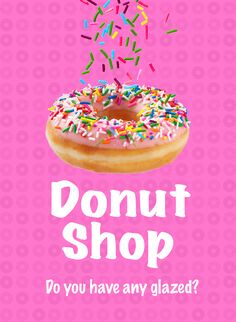 Donut shop playing cards design.