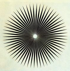 """This artwork represents balance because The """"iris"""" is drawn circular and is made up of equal lines, both in placement and width and length. It is a completely symmetrical piece."""