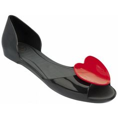 Mel Dreamed by Melissa | Fresh Special Black Heart Sandals | www.melshoes.com
